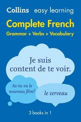 Easy Learning French Complete Grammar, Verbs and Vocabulary (3 books in 1) - pr_1761315