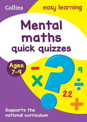 Mental Maths Quick Quizzes Ages 7-9 - pr_19103