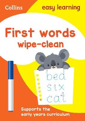 First Words Age 3-5 Wipe Clean Activity Book -