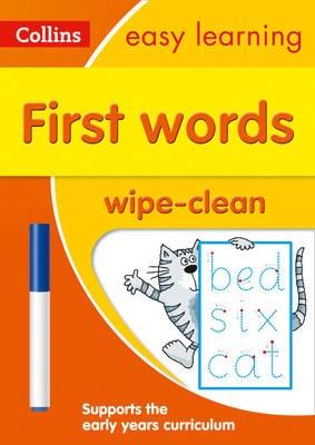 First Words Age 3-5 Wipe Clean Activity Book - pr_431389