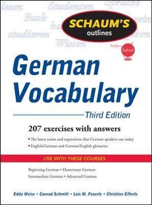 Schaum's Outline of German Vocabulary, 3ed -
