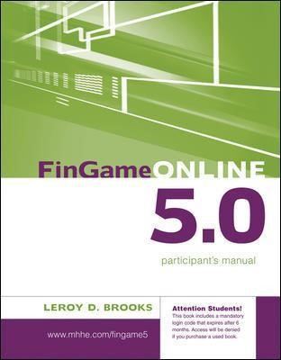 FinGame 5.0 Participant's Manual with Registration Code - pr_300077