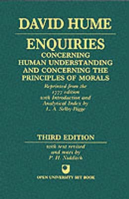 Enquiries concerning Human Understanding and concerning the Principles of Morals -