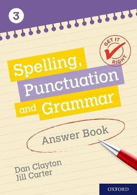 Get It Right: KS3; 11-14: Spelling, Punctuation and Grammar Answer Book 3 -