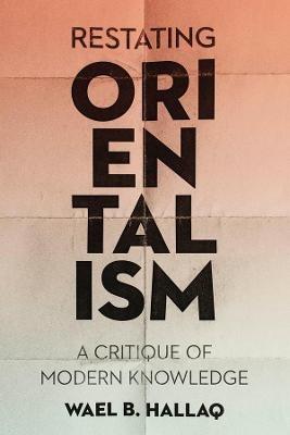 Restating Orientalism -