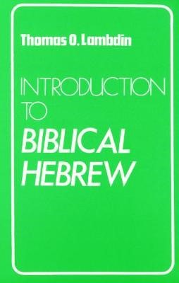 Introduction to Biblical Hebrew - pr_210616