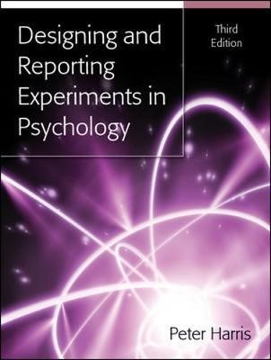 Designing and Reporting Experiments in Psychology - pr_70926