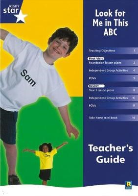 Rigby Star Shared Reception Non-Fiction: Look For Me In This ABC Teachers Guide - pr_215773