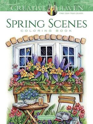 Creative Haven Spring Scenes Coloring Book -