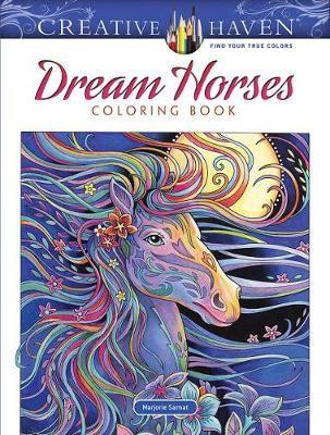 Creative Haven Dream Horses Coloring Book -