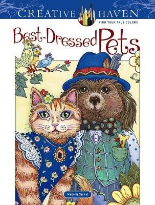 Creative Haven Best-Dressed Pets Coloring Book -