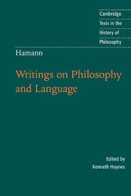 Hamann: Writings on Philosophy and Language - pr_221994