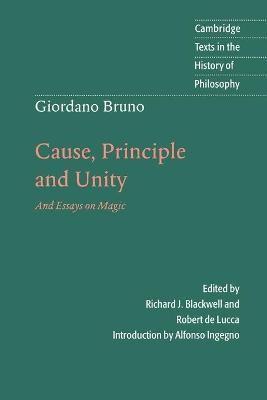Giordano Bruno: Cause, Principle and Unity - pr_386396