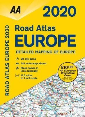 AA Road Atlas Europe 2020 - pr_377544