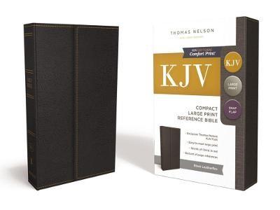 KJV, Reference Bible, Compact, Large Print, Leathersoft, Black, Red Letter, Comfort Print - pr_294659