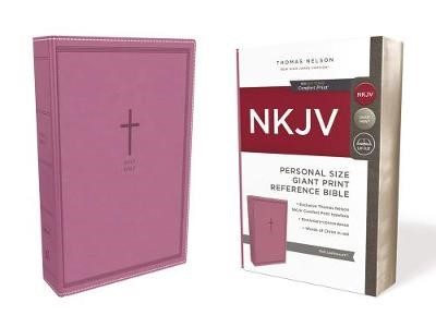 NKJV, Reference Bible, Personal Size Giant Print, Leathersoft, Pink, Red Letter, Comfort Print - pr_413205