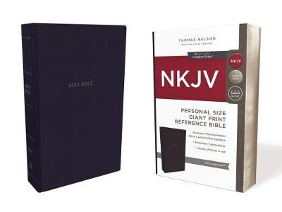 NKJV, Reference Bible, Personal Size Giant Print, Leathersoft, Blue, Red Letter, Comfort Print - pr_430257