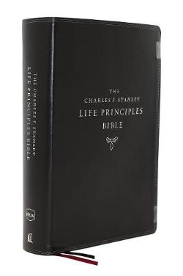 The NKJV, Charles F. Stanley Life Principles Bible, 2nd Edition, Leathersoft, Black, Thumb Indexed, Comfort Print - pr_294640