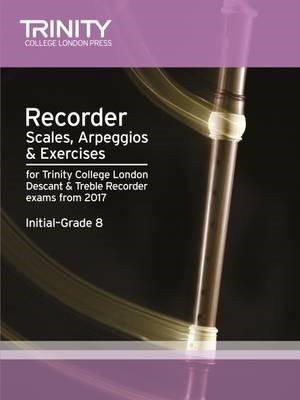 Recorder Scales, Arpeggios & Exercises Initial Grade to Grade 8 from 2017 -