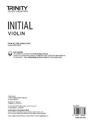 Trinity College London Violin Exam Pieces 2020-2023: Initial (part only) - pr_307115