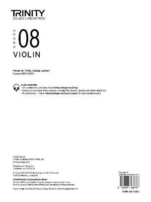 Trinity College London Violin Exam Pieces 2020-2023: Grade 8 (part only) -
