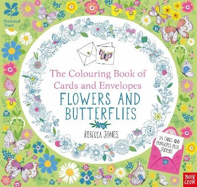 National Trust: The Colouring Book of Cards and Envelopes - Flowers and Butterflies - pr_424574