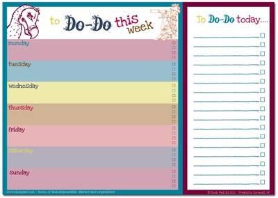 Dodo Daily to Do List Notepad (A4) Classic - pr_37395
