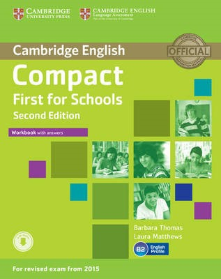 Compact First for Schools Workbook with Answers with Audio - pr_228340