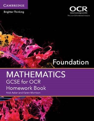 GCSE Mathematics for OCR Foundation Homework Book -