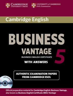 Cambridge English Business 5 Vantage Self-study Pack (Student's Book with Answers and Audio CDs (2)) - pr_14531