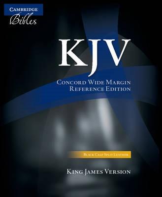 KJV Concord Wide Margin Reference Bible, Black Calf Split Leather, KJ764:XM -
