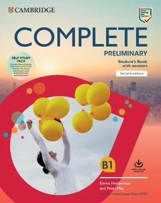 Complete Preliminary Self Study Pack (SB w Answers w Online Practice and WB w Answers w Audio Download and Class Audio) - pr_329605
