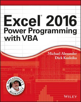 Excel 2016 Power Programming with VBA - pr_241367
