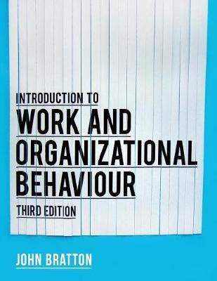 Introduction to Work and Organizational Behaviour - pr_36486