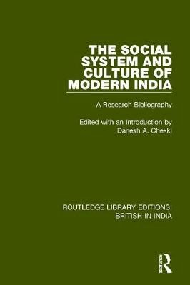 The Social System and Culture of Modern India - pr_31454