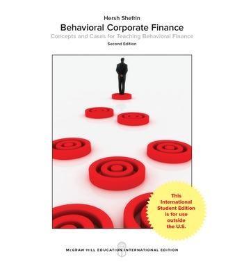 Behavioral Corporate Finance -