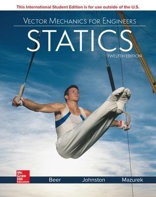 ISE Vector Mechanics for Engineers: Statics -
