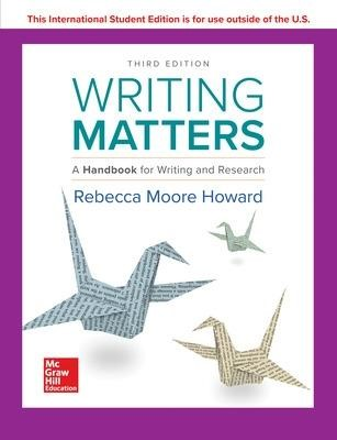 ISE Writing Matters: A Handbook for Writing and Research 3e TABBED - pr_71144