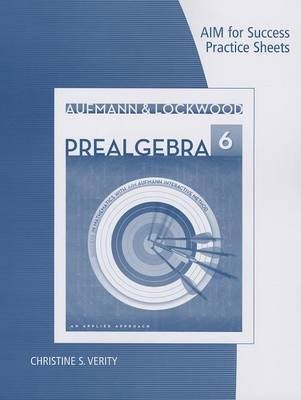 AIM for Success Practice Sheets for Aufmann/Lockwood's Prelgebra: An Applied Approach, 6th - pr_238415