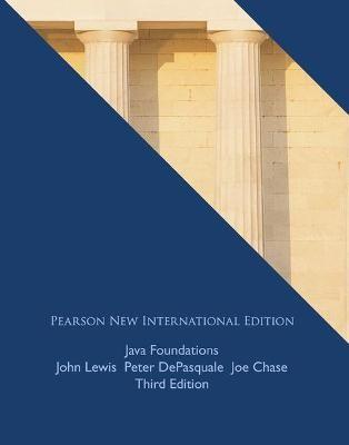 Java Foundations: Pearson New International Edition -