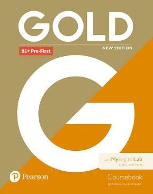 Gold B1+ Pre-First New Edition Coursebook and MyEnglishLab Pack - pr_89134