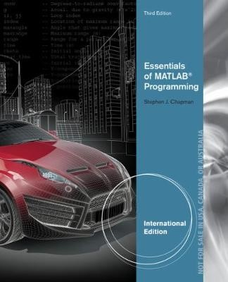 Essentials of MATLAB (R) Programming, International Edition - pr_314140