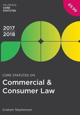 Core Statutes on Commercial & Consumer Law 2017-18 - pr_261705