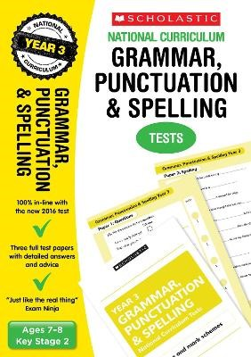 Grammar, Punctuation and Spelling Test - Year 3 - pr_38116