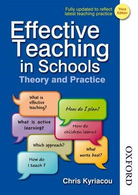 Effective Teaching in Schools Theory and Practice -