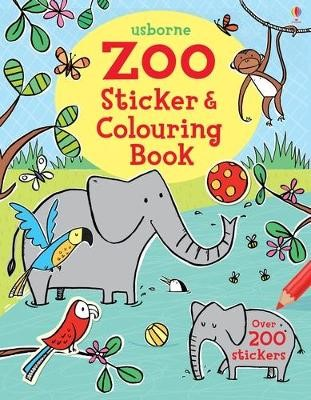 Zoo Sticker and Colouring Book -