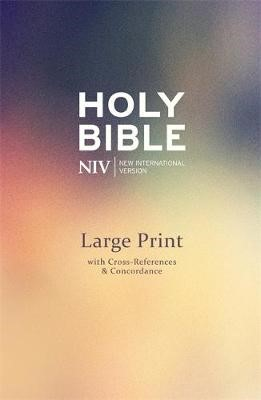 NIV Large Print Single-Column Deluxe Reference Bible - pr_314668