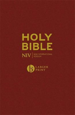 NIV Larger Print Burgundy Hardback Bible - pr_127797