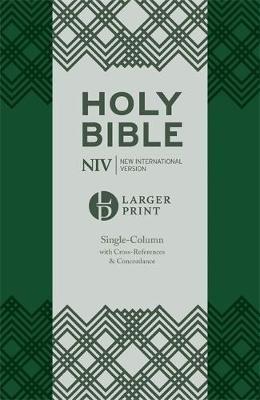 NIV Larger Print Compact Single Column Reference Bible - pr_314664