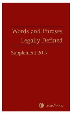 Words and Phrases Legally Defined 2017 Supplement - pr_238349